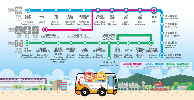 【Taiwan Tourist Shuttle Routes Change on May 1st】Direct transport to tourist attractions from Taoyuan Railway Station, Zhongli Railway Station and Taoyuan High Speed Rail Station